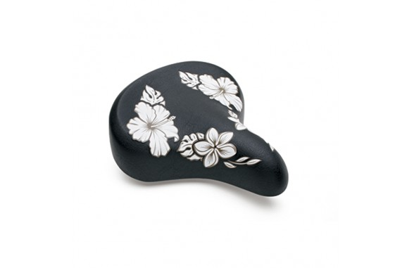HAWAII SADDLE (Black w/Flowers)