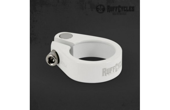 Ruff Seat Post Clamp (25.4mm/31.8mm) - White/Black